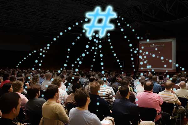 As hashtags são uma óptima forma de promover um evento e de congregar pessoas à volta dele